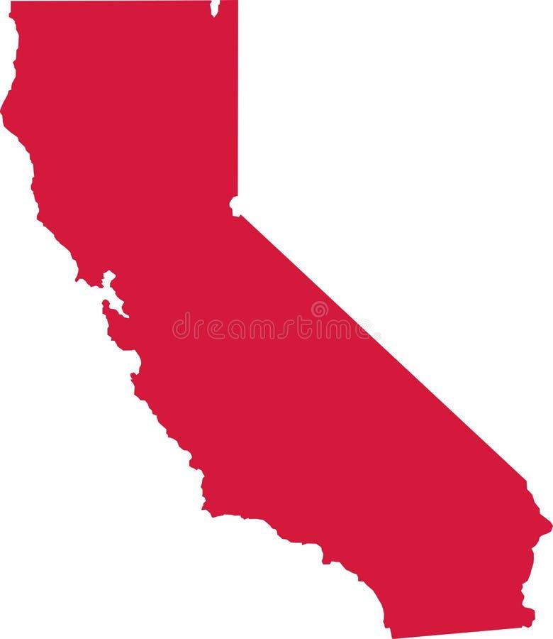 État de la Californie par des comtés illustration libre de droits