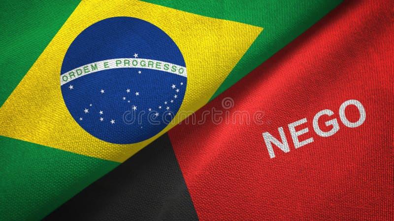 État de Paraiba et tissu de textile de drapeaux du Brésil, texture de tissu illustration de vecteur