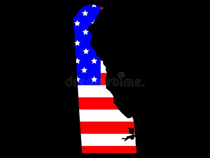 État du Delaware illustration de vecteur
