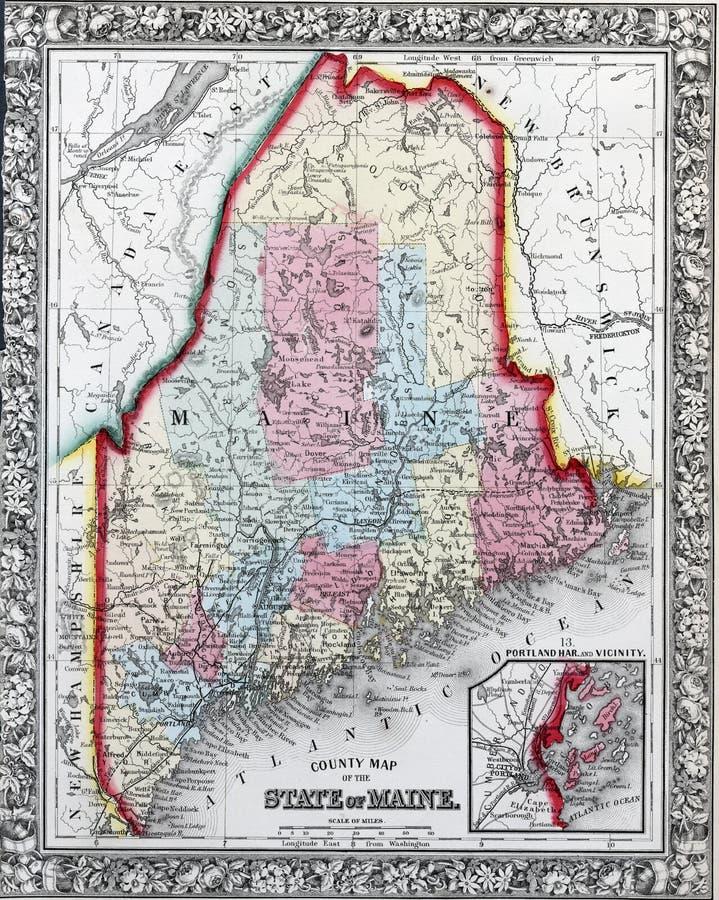 État du Maine illustration libre de droits