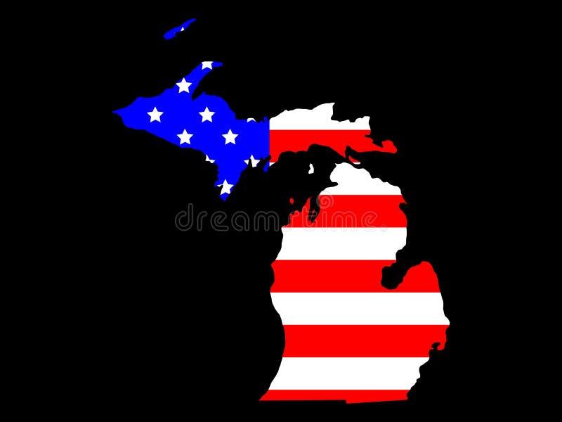 État du Michigan illustration libre de droits