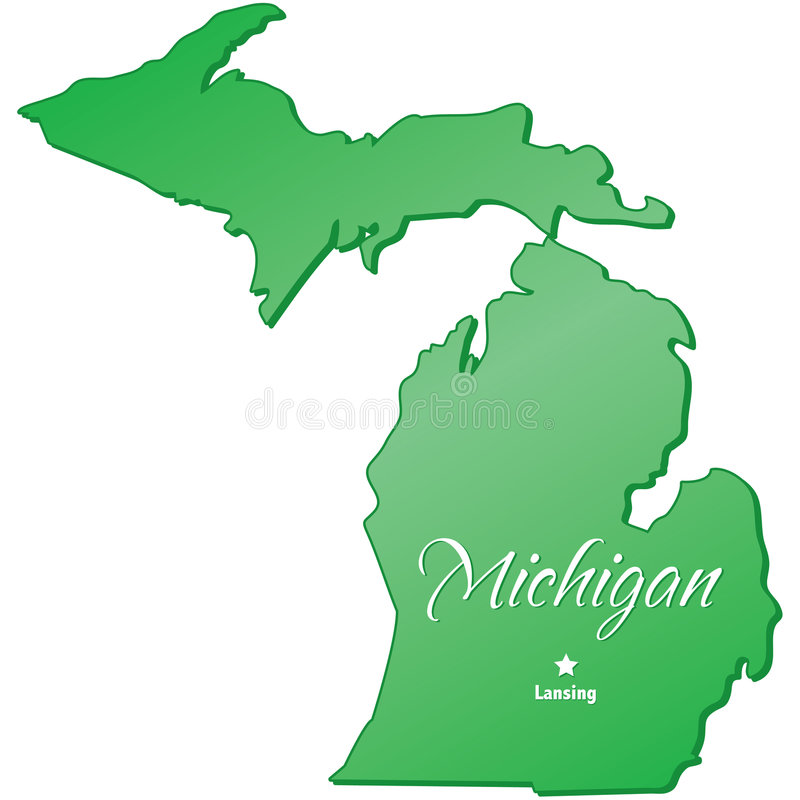 État du Michigan illustration de vecteur