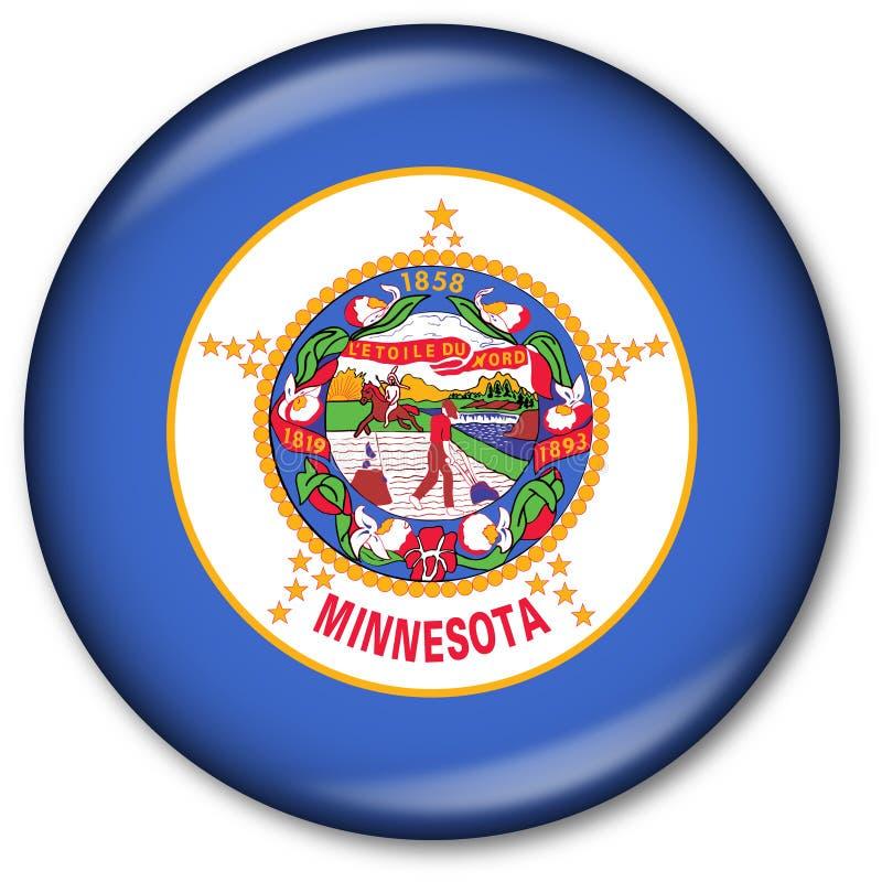 état du Minnesota d'indicateur de bouton illustration stock