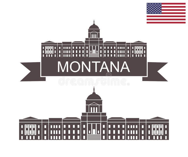 État du Montana Montana State Capitol à Helena illustration de vecteur