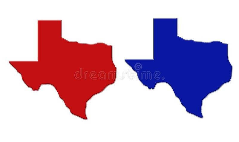 État du Texas illustration de vecteur