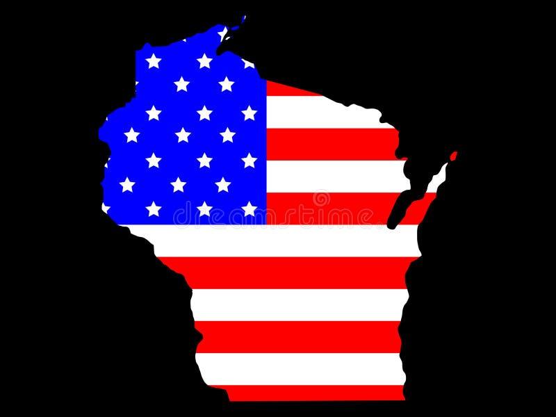 État du Wisconsin illustration stock