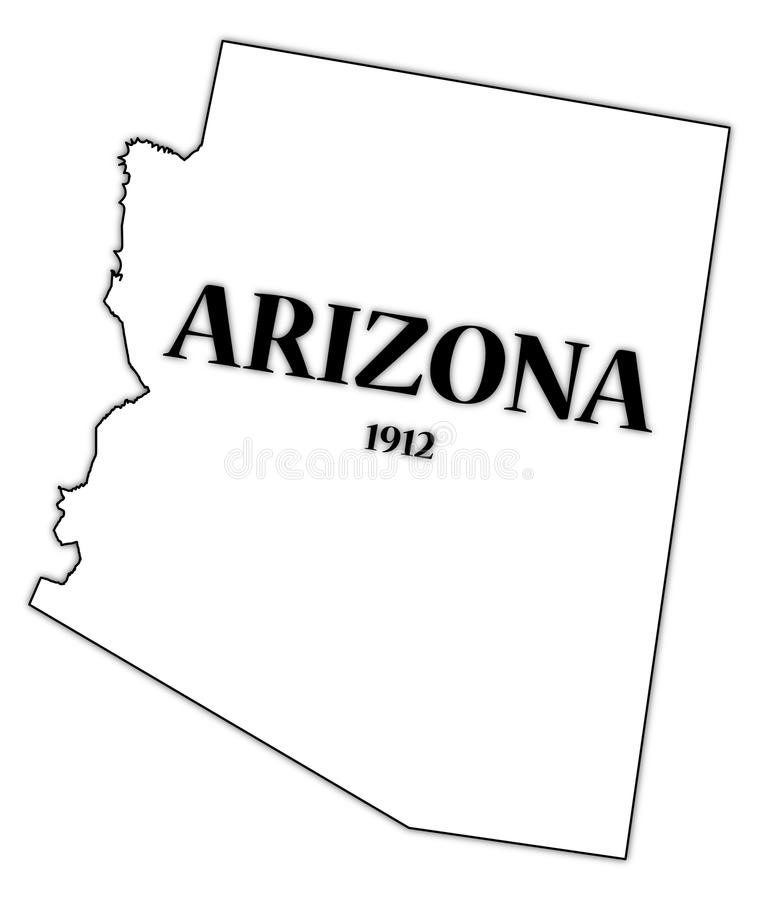 État et date de l'Arizona illustration libre de droits