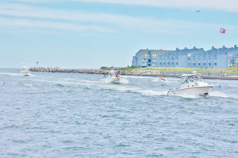 État Etats-Unis du New Jersey de saison du trafic de yachts images libres de droits