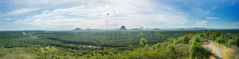 État Forest Australia Panorama de Beerburrum image libre de droits