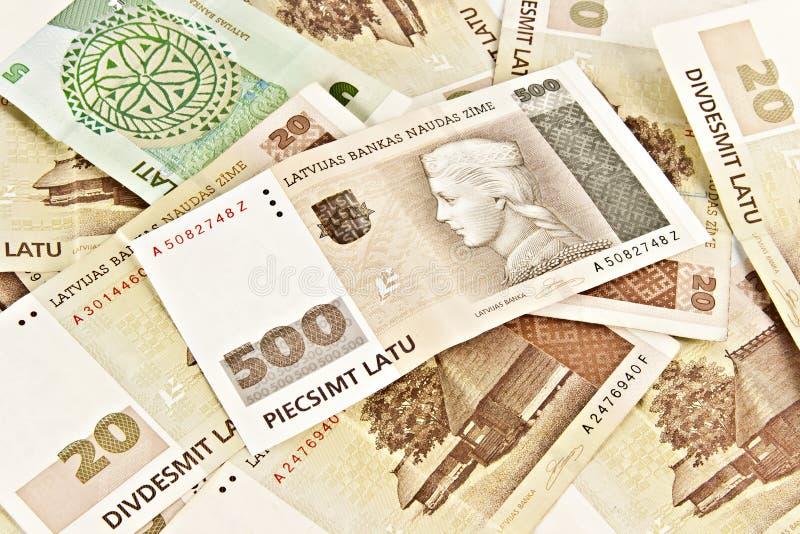 État letton cinq cents billets de banque de lats. photo stock