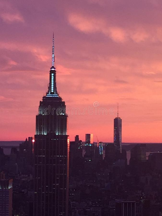 État NYC d'empire images stock