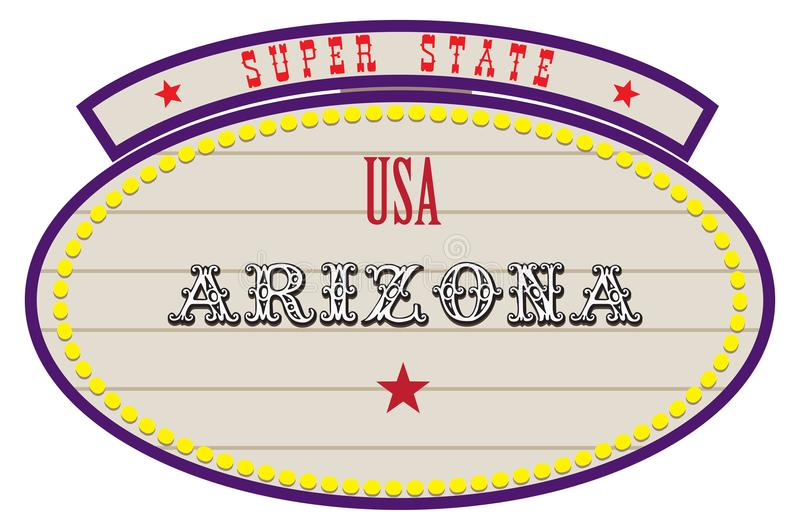 État superbe Etats-Unis - Arizona illustration stock