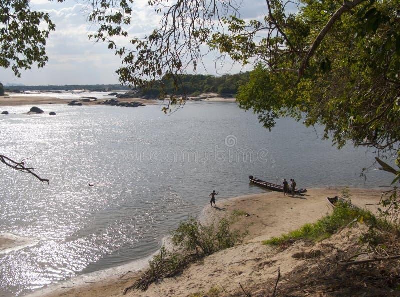 État Venezuela du fleuve Oricono Puerto Ayacucho Amazonas photographie stock libre de droits