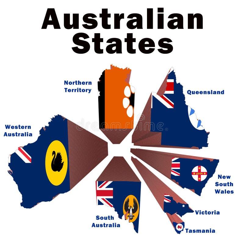 États australiens illustration de vecteur