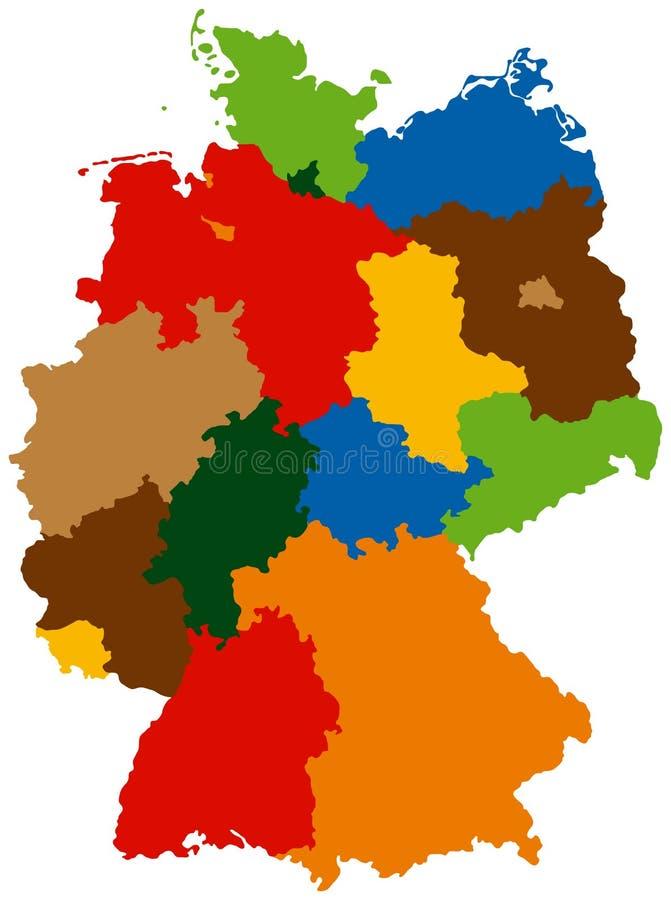 États de l'Allemagne illustration stock