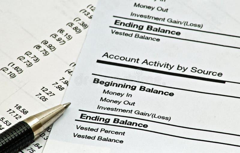États financiers mensuels photos stock