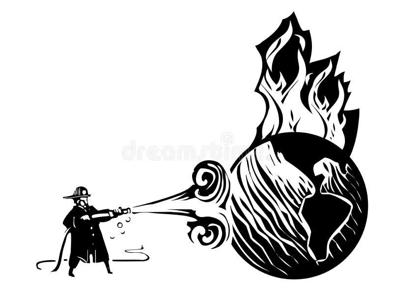 Éteindre les feux des mondes illustration stock