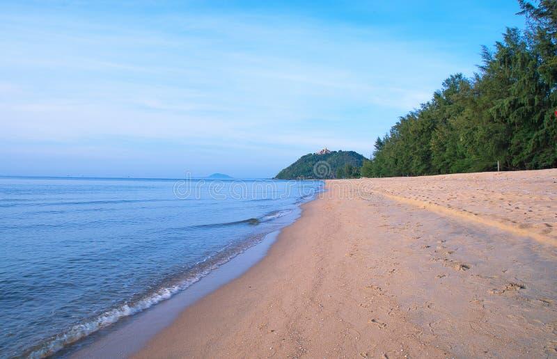 Étendue de plage isolée image stock