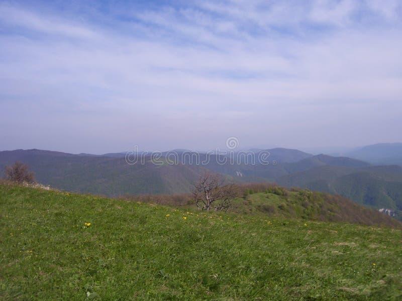 Éternité de plateau de montagnes du soleil de ciel photo stock