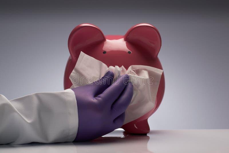 Éternuement de grippe de porcs photo libre de droits