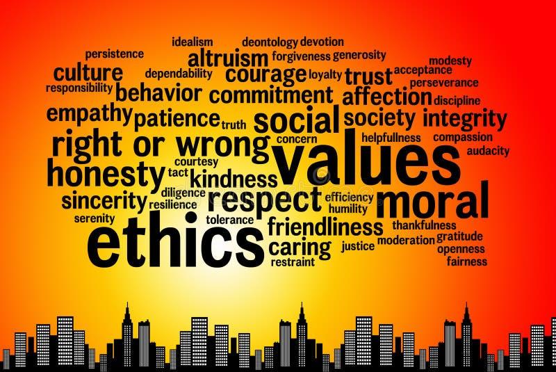 éthique illustration stock