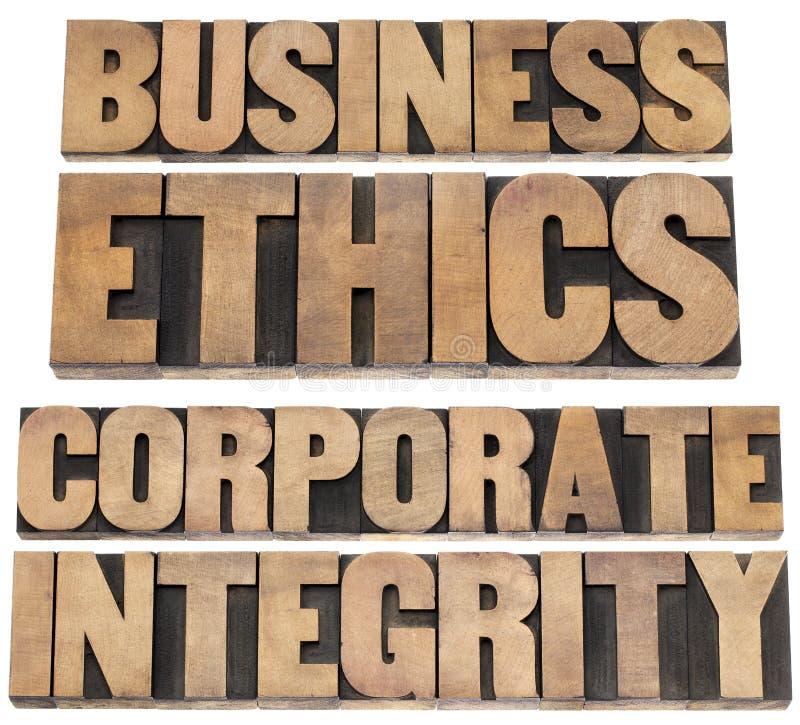 Éthique d'affaires photographie stock