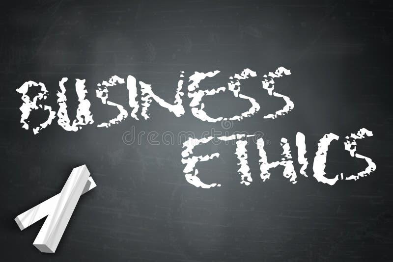 Éthique d'affaires de tableau noir illustration de vecteur