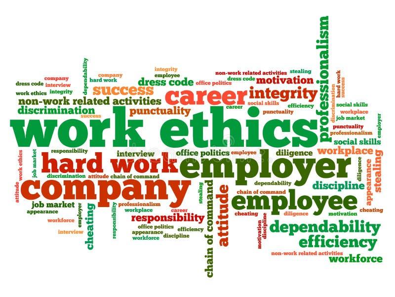 Éthique de travail illustration libre de droits