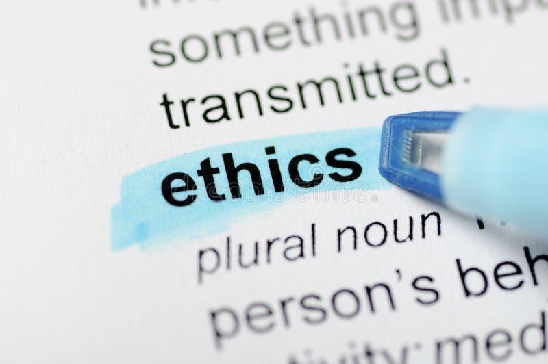 Ética imagen de archivo