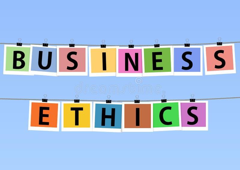 Ética comercial ilustração royalty free