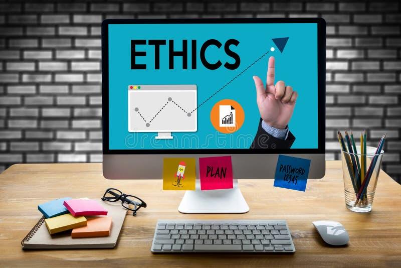 ÉTICAS, ÉTICAS da equipe do negócio, integridade do ética comercial honesta fotografia de stock royalty free