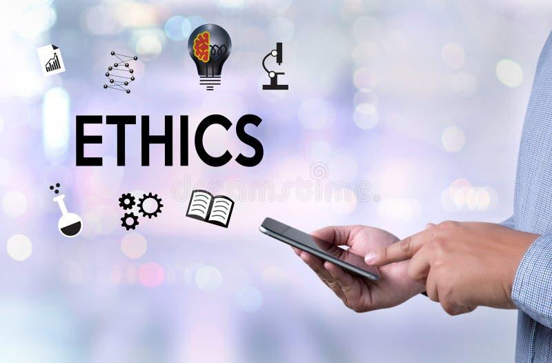 ÉTICAS, ÉTICAS da equipe do negócio, integridade do ética comercial honesta ilustração stock