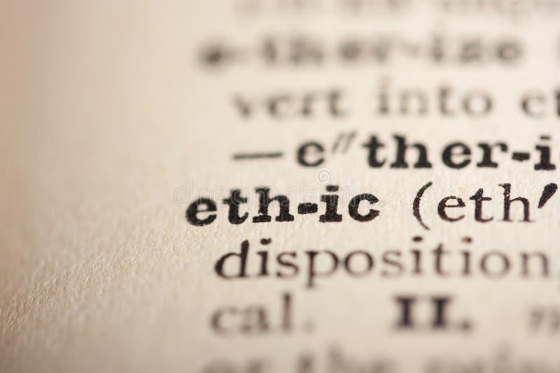 Éticas da palavra imagens de stock