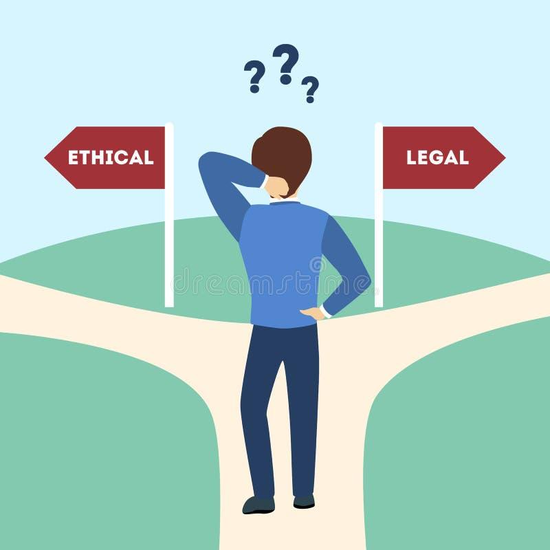 Ético o legal libre illustration