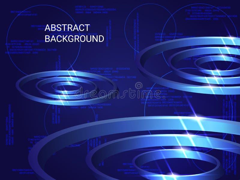 Étincelle en métal de cercles sur le fond illustration de vecteur