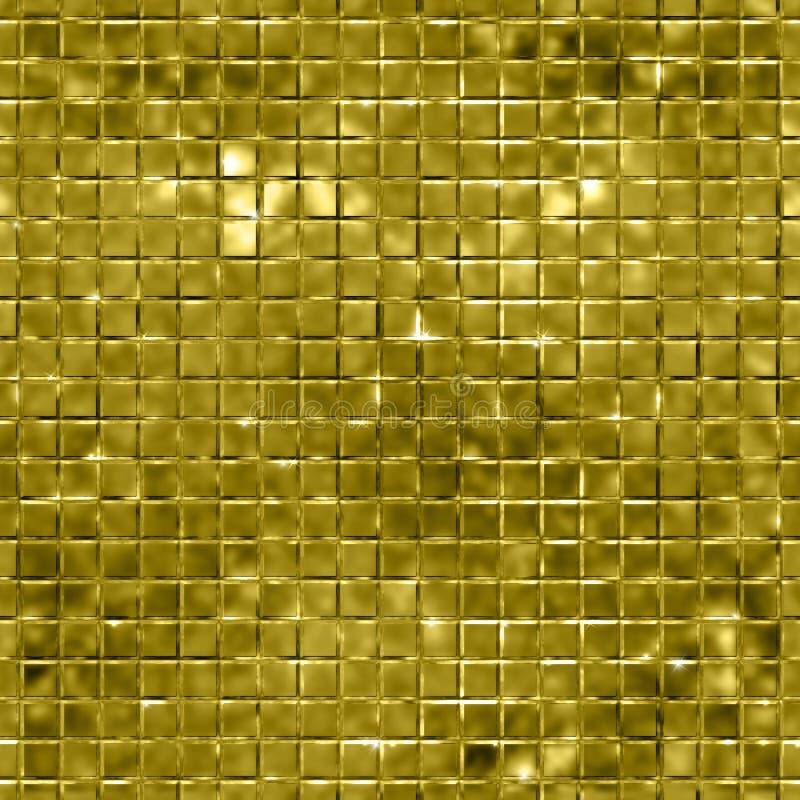 Étincellement sans couture d'or et fond éclatant de mosaïque illustration libre de droits