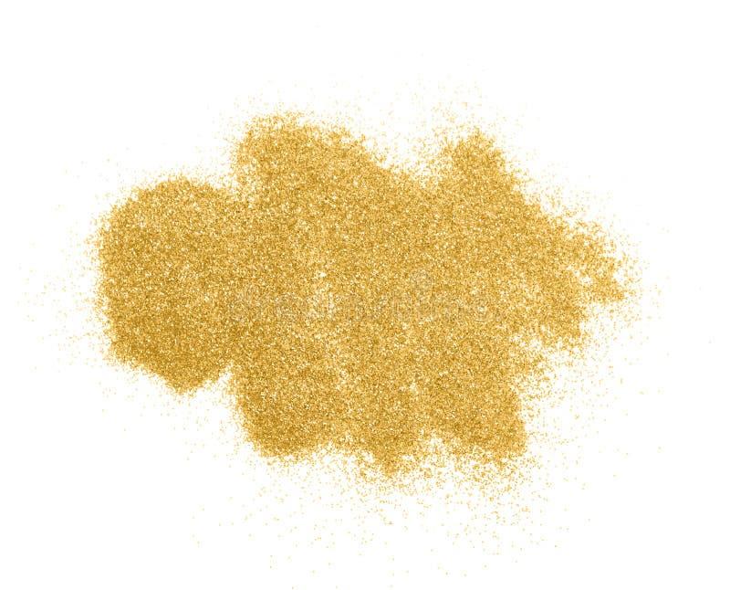 Étincelles de luxe de scintillement d'or d'isolement image stock