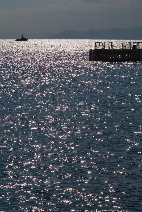 étincelles de mer photographie stock