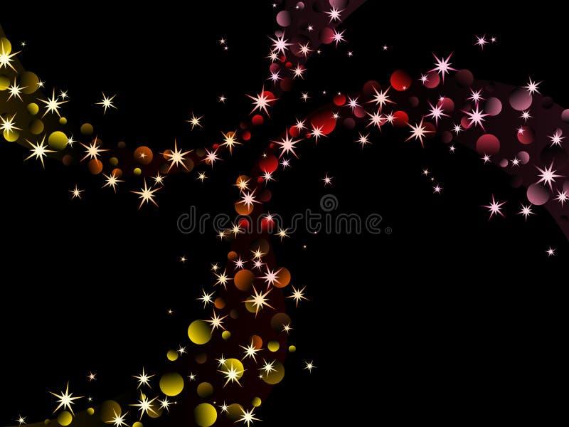 Étincelles de nuit, couleurs chaudes illustration libre de droits