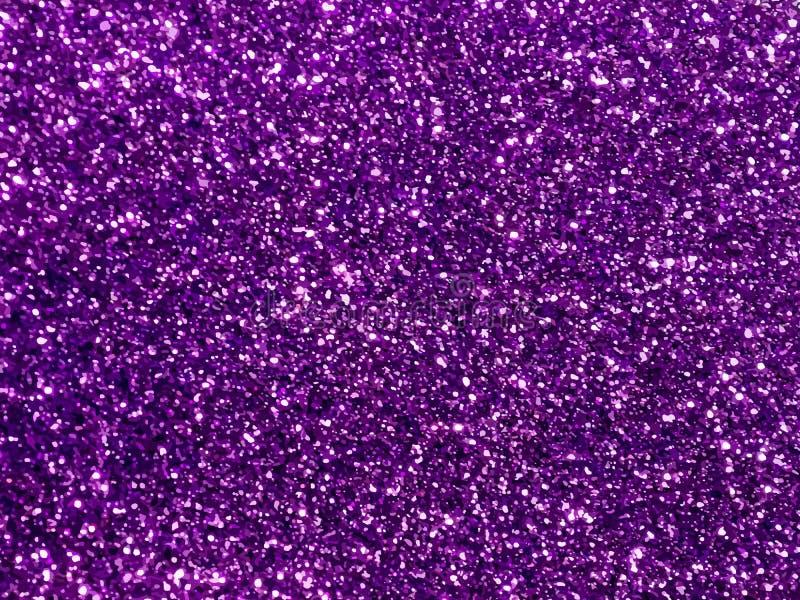 Étincelles violettes et pourpres Fond pourpre de scintillement Fond rose Miroitement brillant de fond élégant de résumé illustration de vecteur