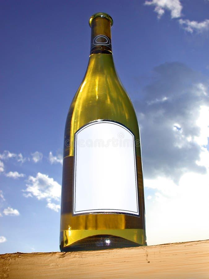 Étiquetez cette bouteille de vin images stock