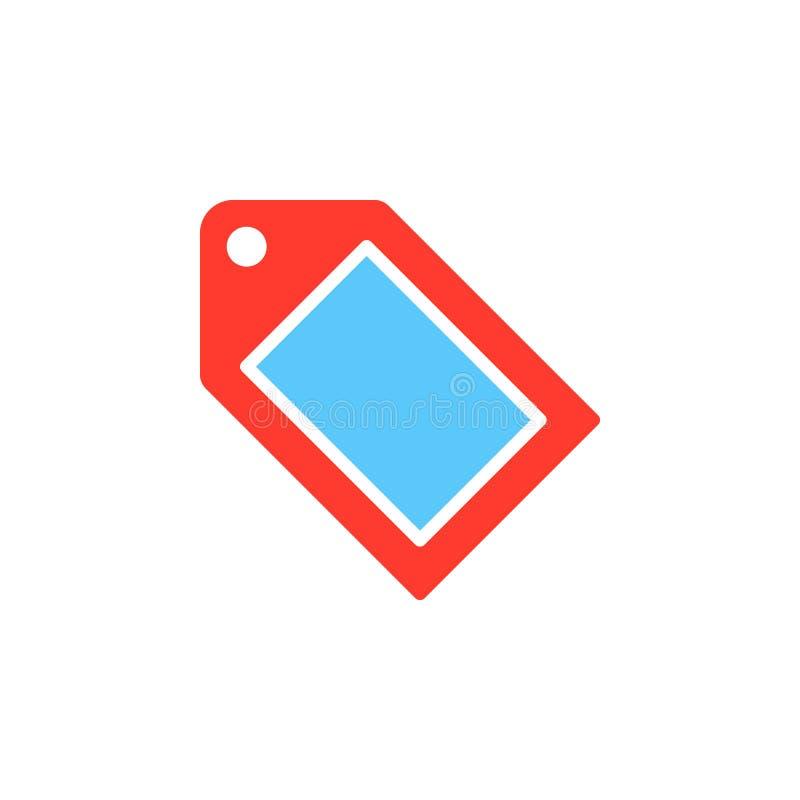 Étiquetez le vecteur d'icône, signe plat rempli, pictogramme coloré solide d'isolement sur le blanc Symbole, illustration de logo illustration libre de droits