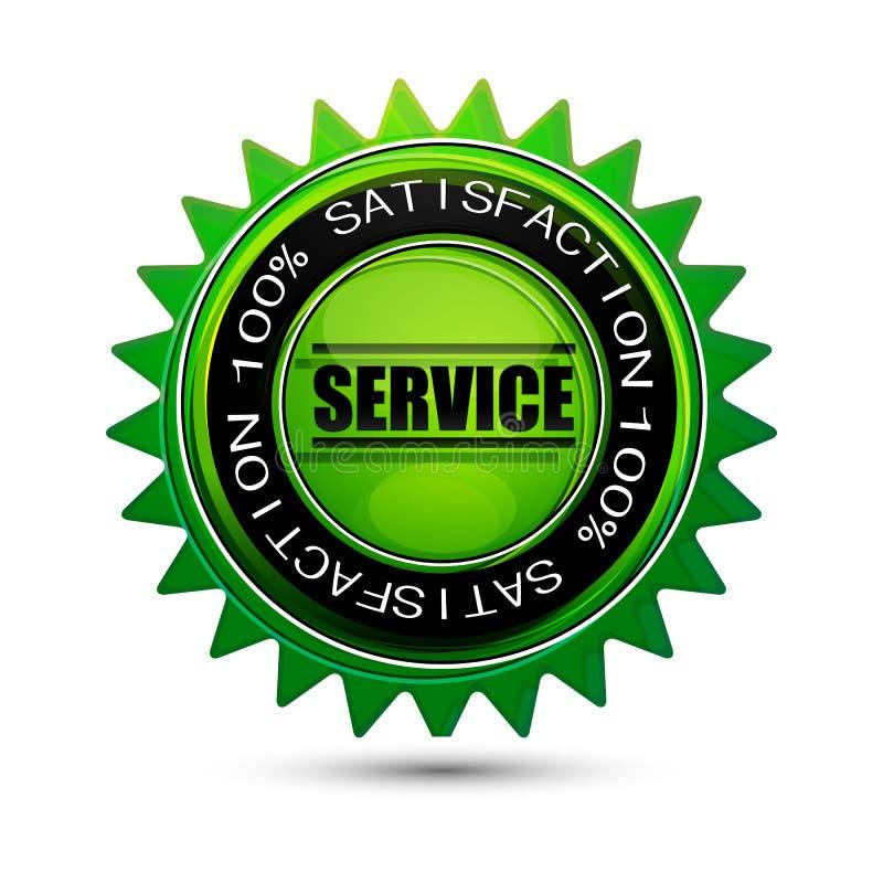 étiquette 100% de service de satisfaction illustration libre de droits