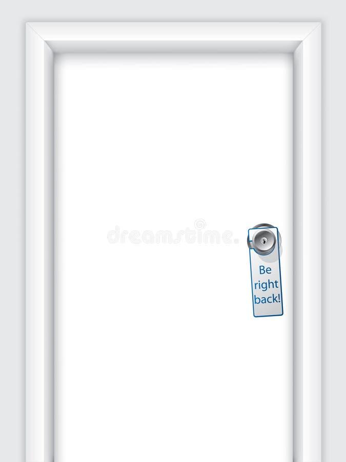 Étiquette avec le message sur la molette de trappe illustration de vecteur