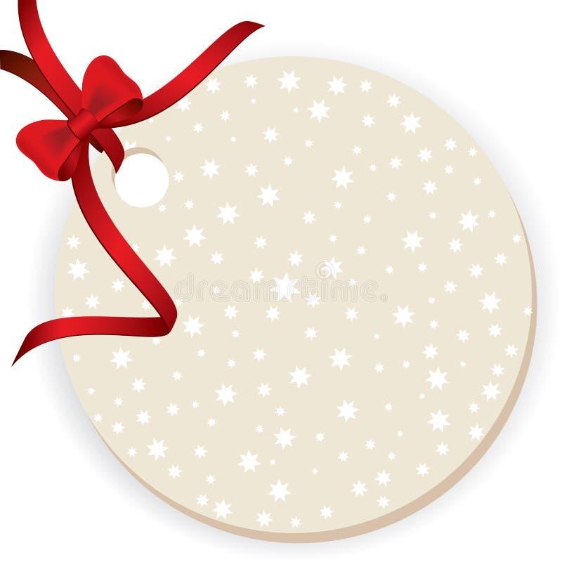 Étiquette blanc de cadeau illustration de vecteur