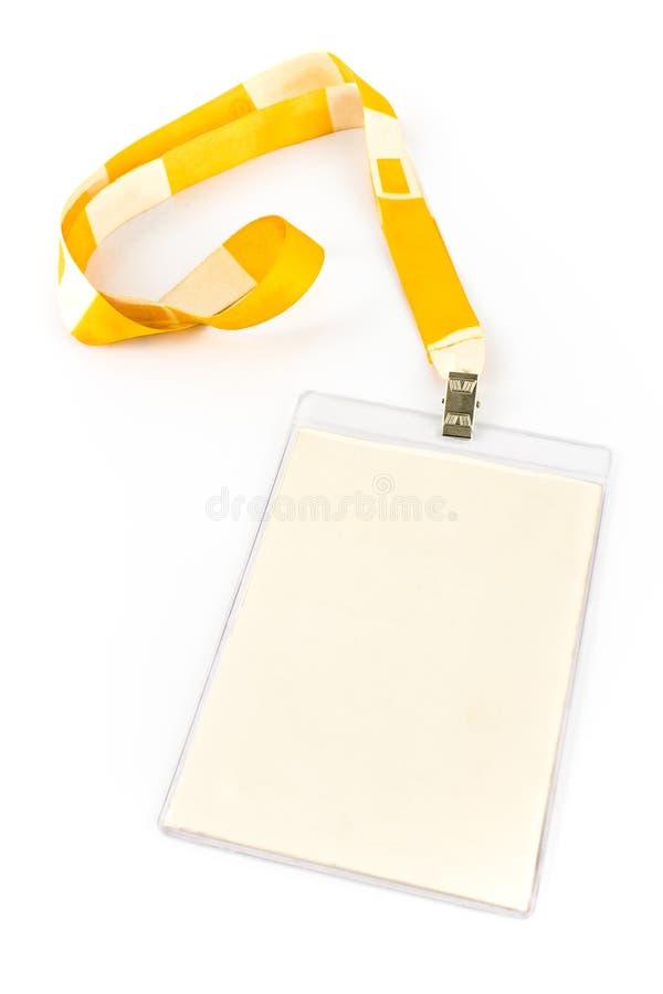 Étiquette blanc de carte d'identification photos stock