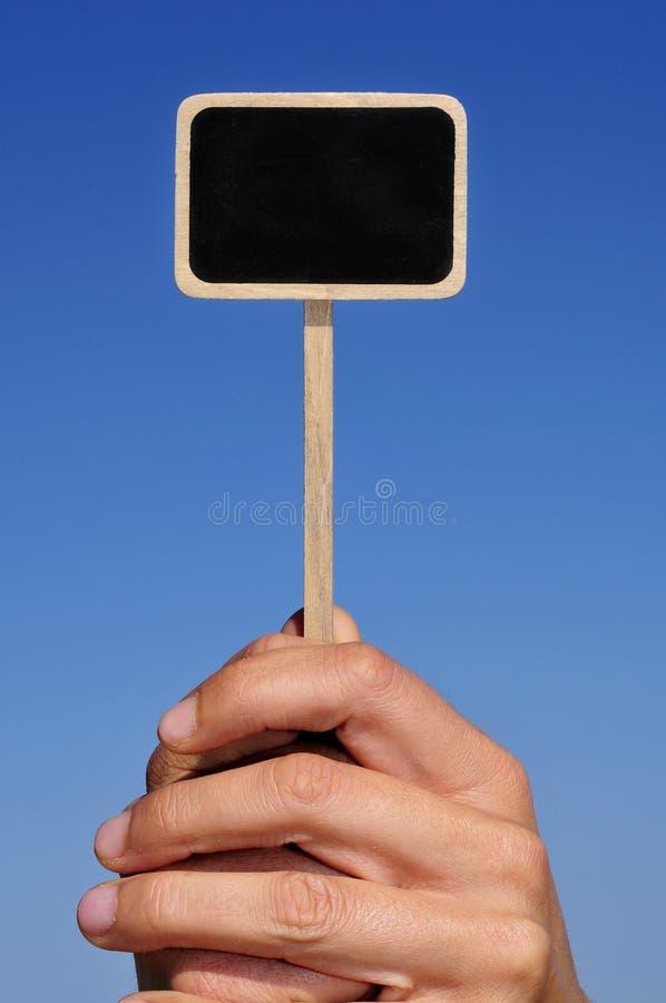 Étiquette blanc de tableau noir images libres de droits