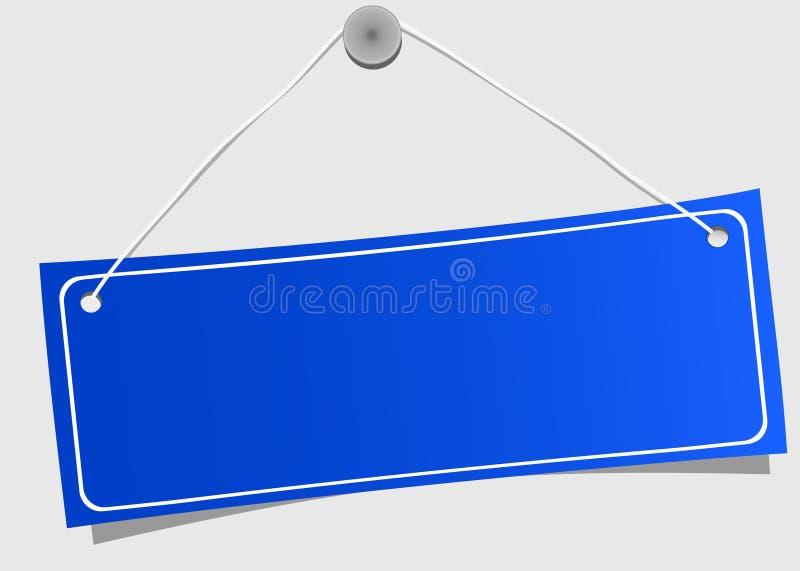 Download étiquette bleue illustration de vecteur. Illustration du métal - 8660225
