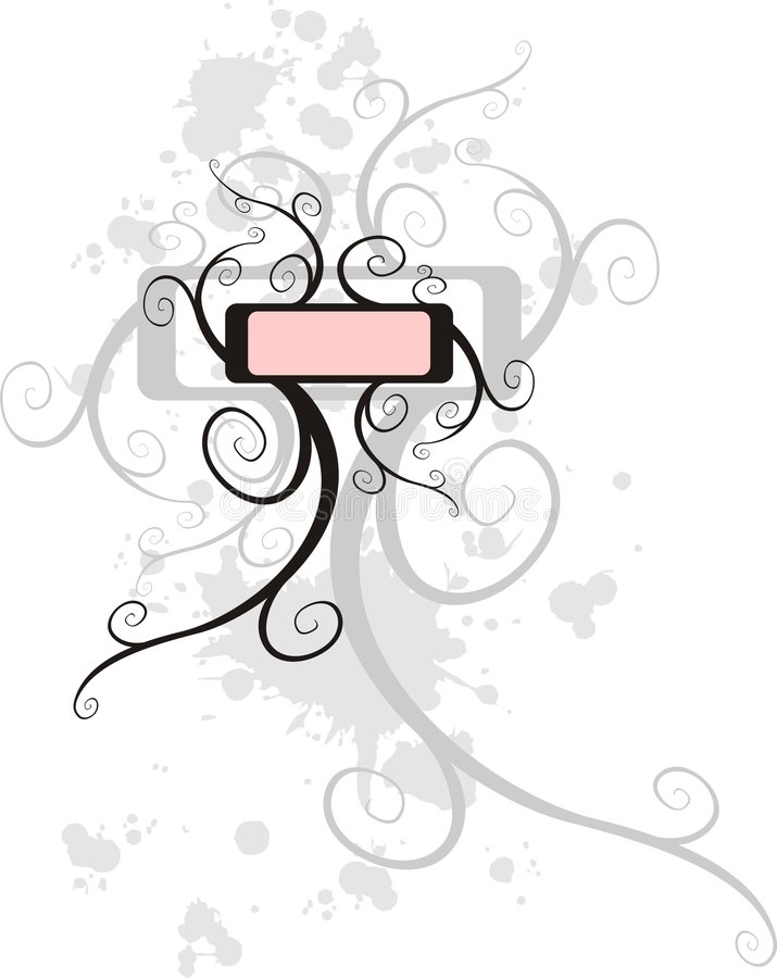 Étiquette bouclée illustration de vecteur
