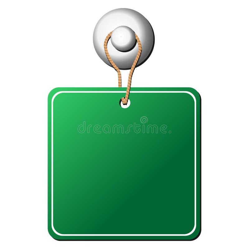 Étiquette carrée arrêtée illustration de vecteur